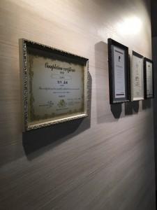 認定書 小山市にあるカットが人気の美容室カルマルーチェです